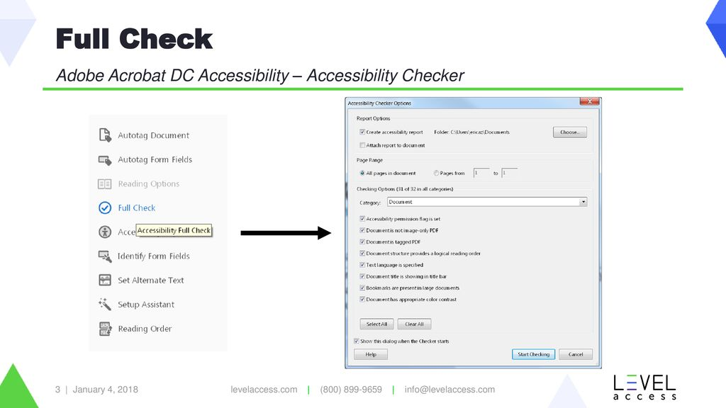 Adobe Acrobat DC Accessibility: Accessibility Checker - ppt download