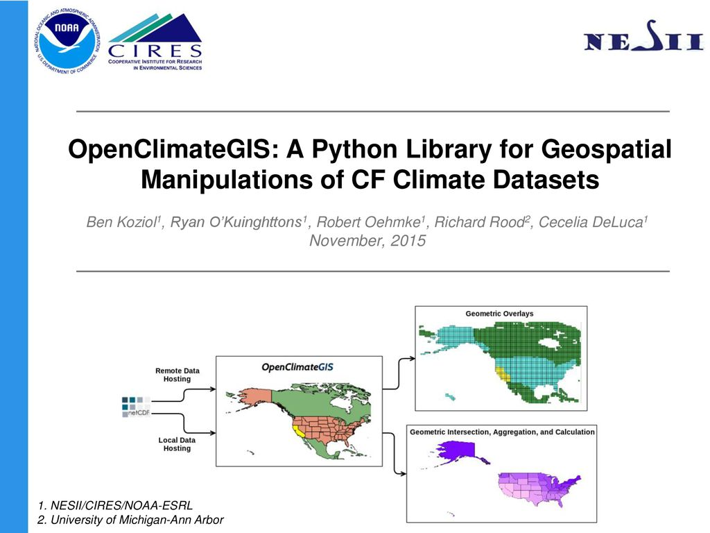 OpenClimateGIS: A Python Library for Geospatial