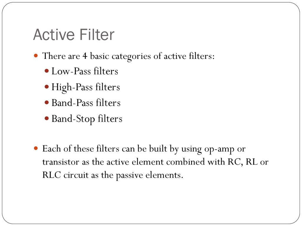 High Pass Filter Rc Circuit