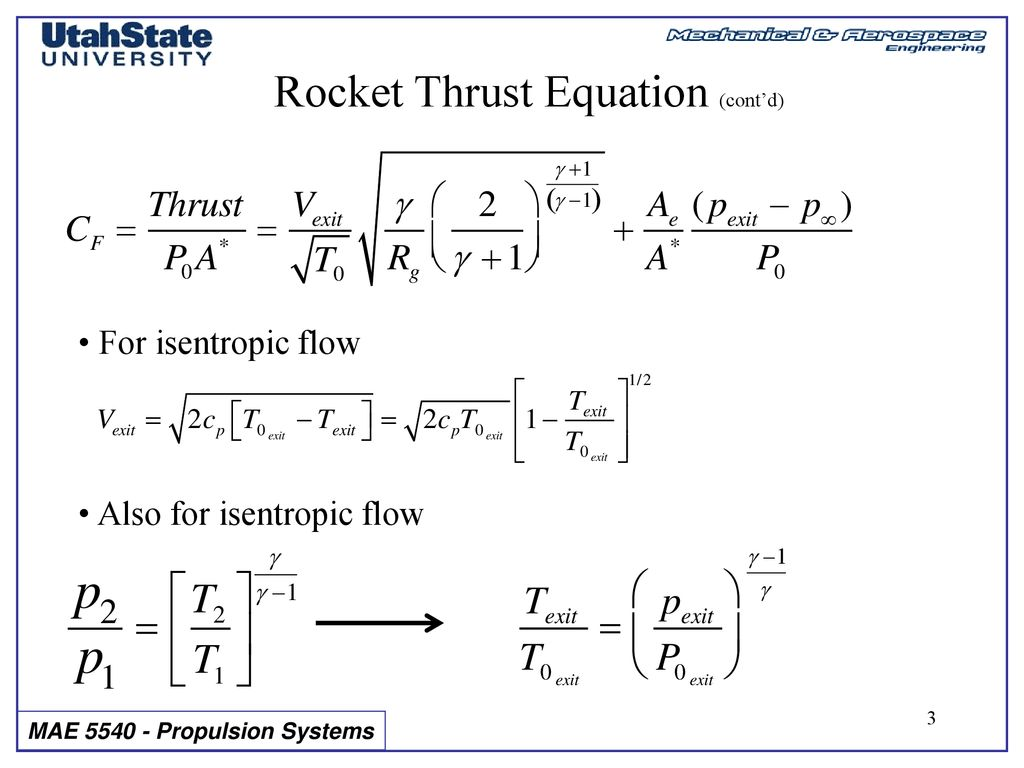 Section 5: Lecture 3 The Optimum Rocket Nozzle - ppt download