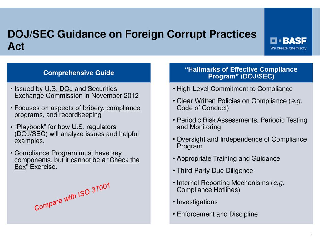 Compliance From A U S Perspective A View From Across The