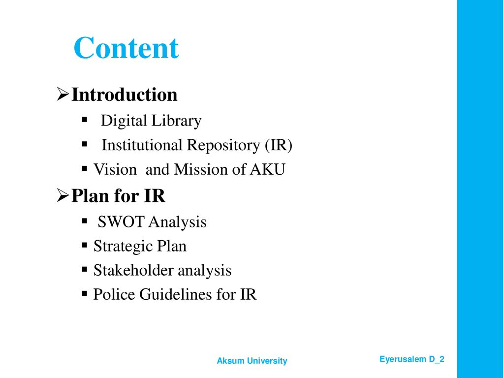 Digital Library and Plan for Institutional Repository - ppt download