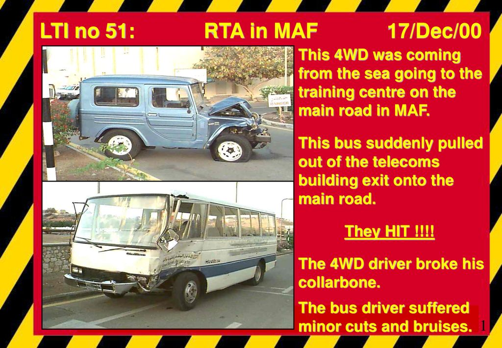 LTI no 51: RTA in MAF 17/Dec/00 This 4WD was coming from the