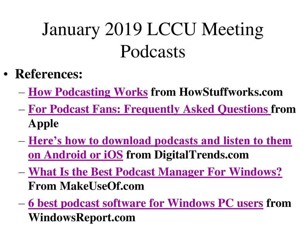 April 2019 LCCU Meeting We'll answers members' questions