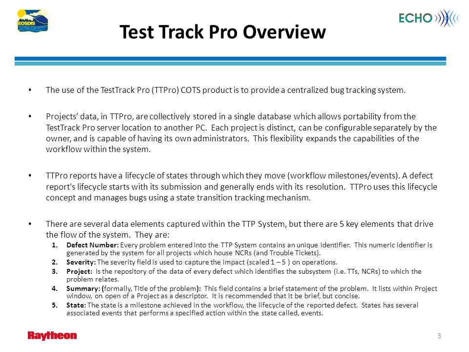 ECHO Test Track Pro User's Guide - ppt download