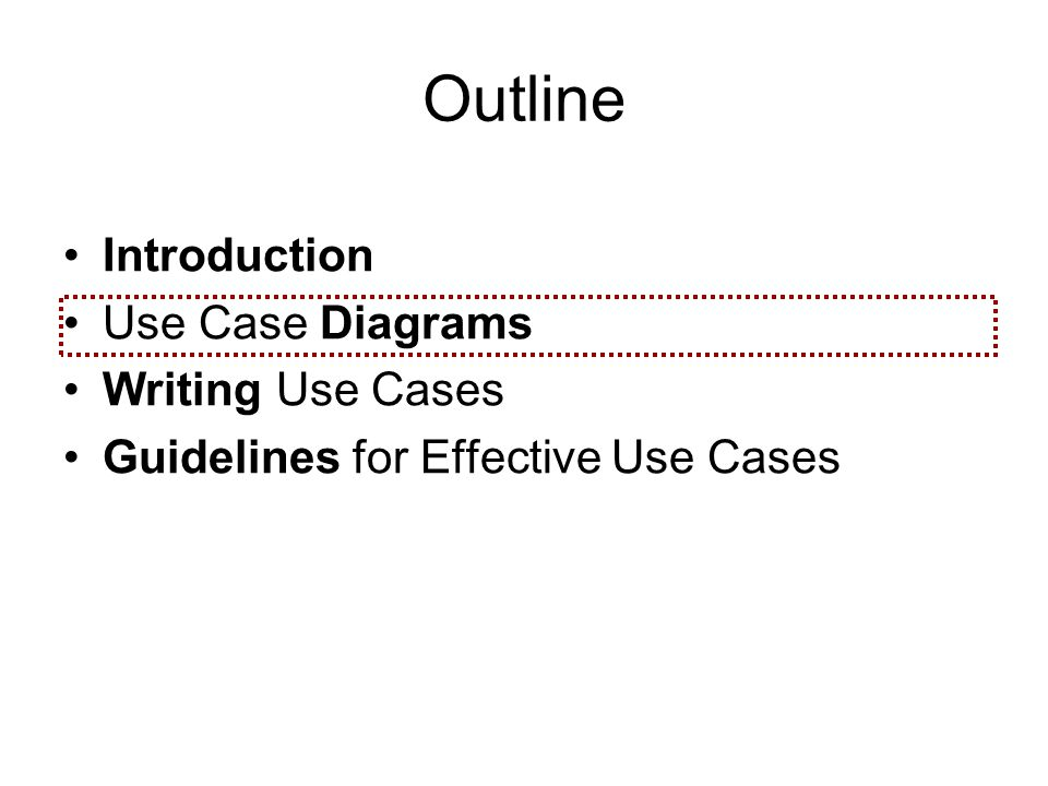 Use cases ppt video online download outline introduction use case diagrams writing use cases ccuart Choice Image