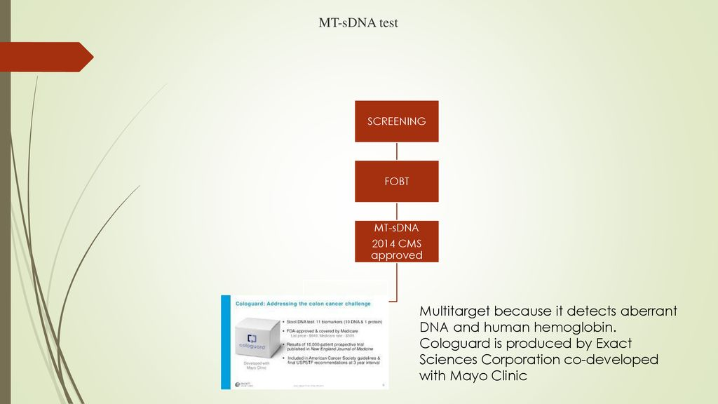 Stool Dna Test And Fob Test In The Screening And Diagnosis Of Crc Ppt Download