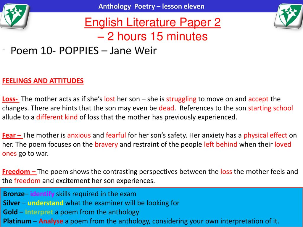 English Literature Paper 2 – 2 hours 15 minutes - ppt download