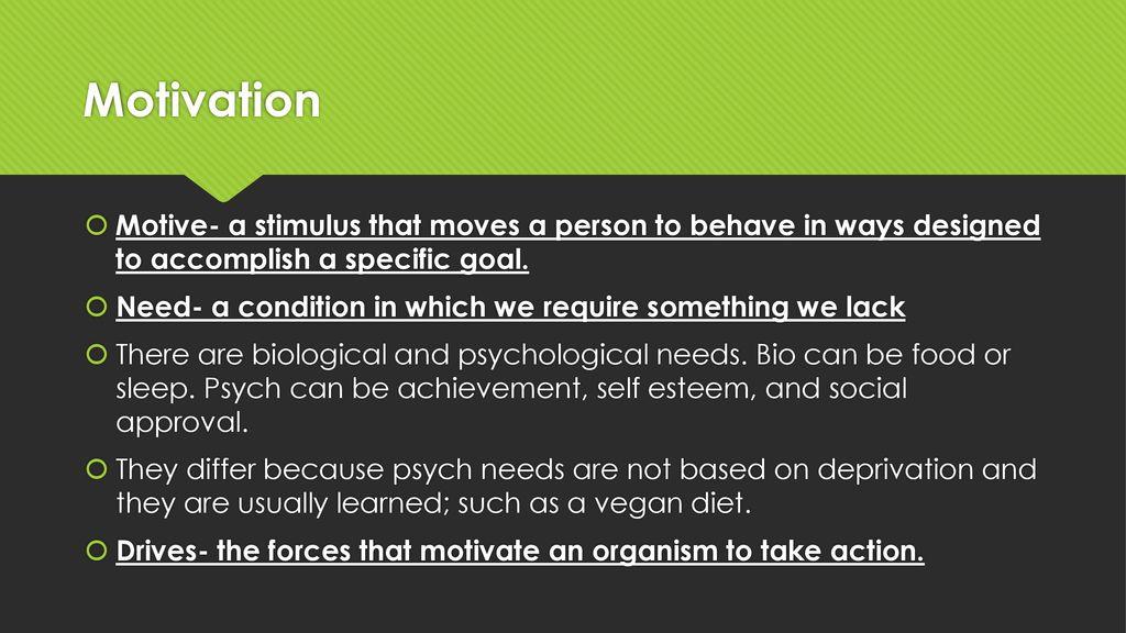 The Psychology of Motivation - ppt download