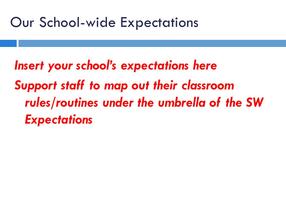 Our School-wide Expectations