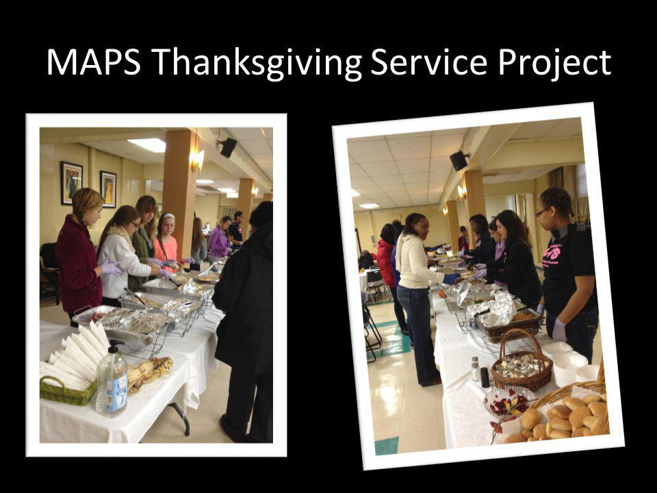 MAPS Thanksgiving Service Project