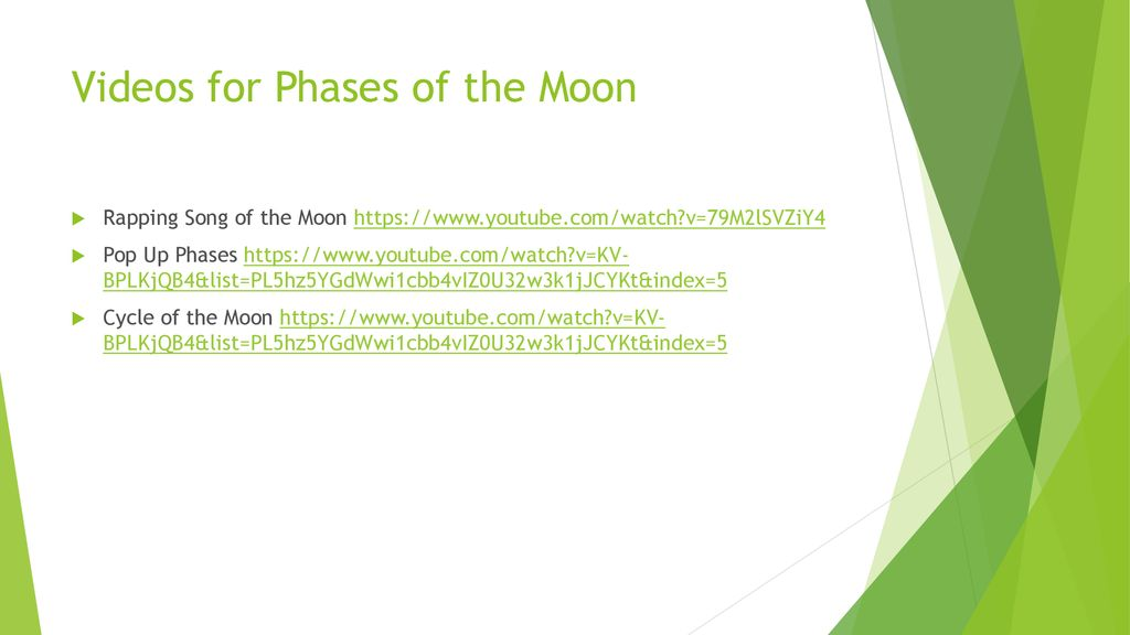 The Phases of the Moon SC 8 E 5 9: Explain the impact of objects in