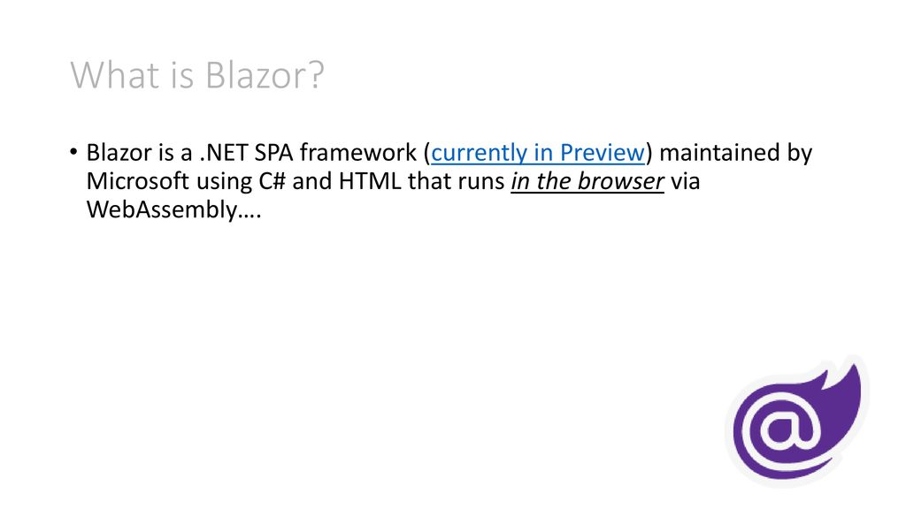 Blazor C# running in the browser via WebAssembly - ppt download