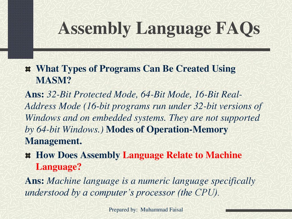 Computer Organization and Assembly Language - ppt download