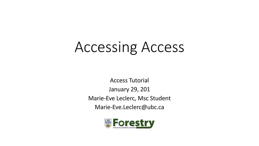 Marie-Eve Leclerc, Msc Student - ppt download