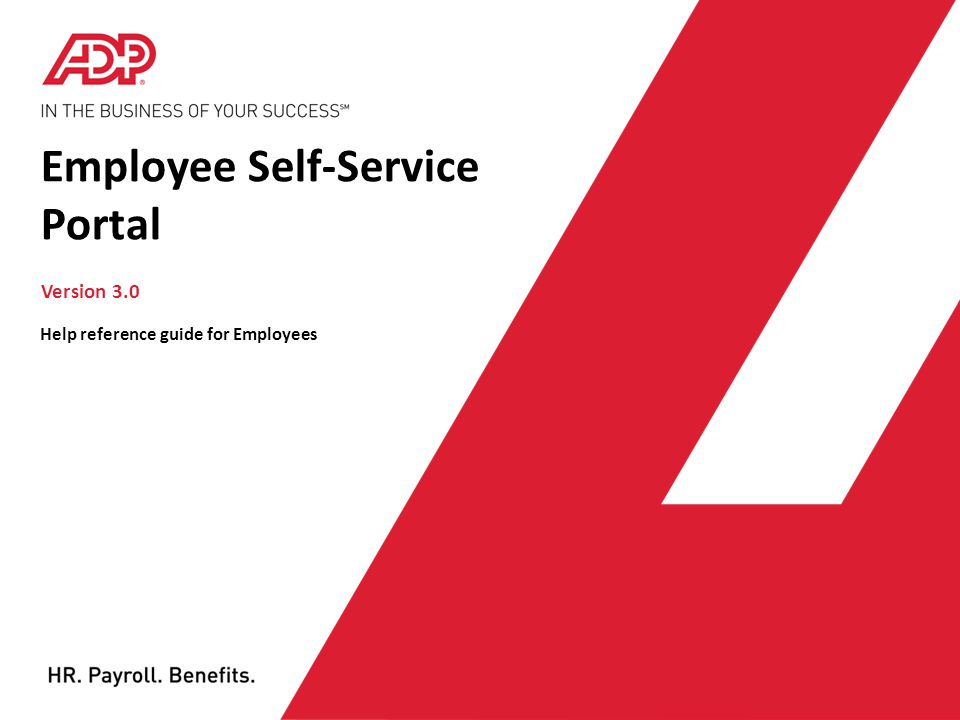 Employee Self-Service Portal - ppt download