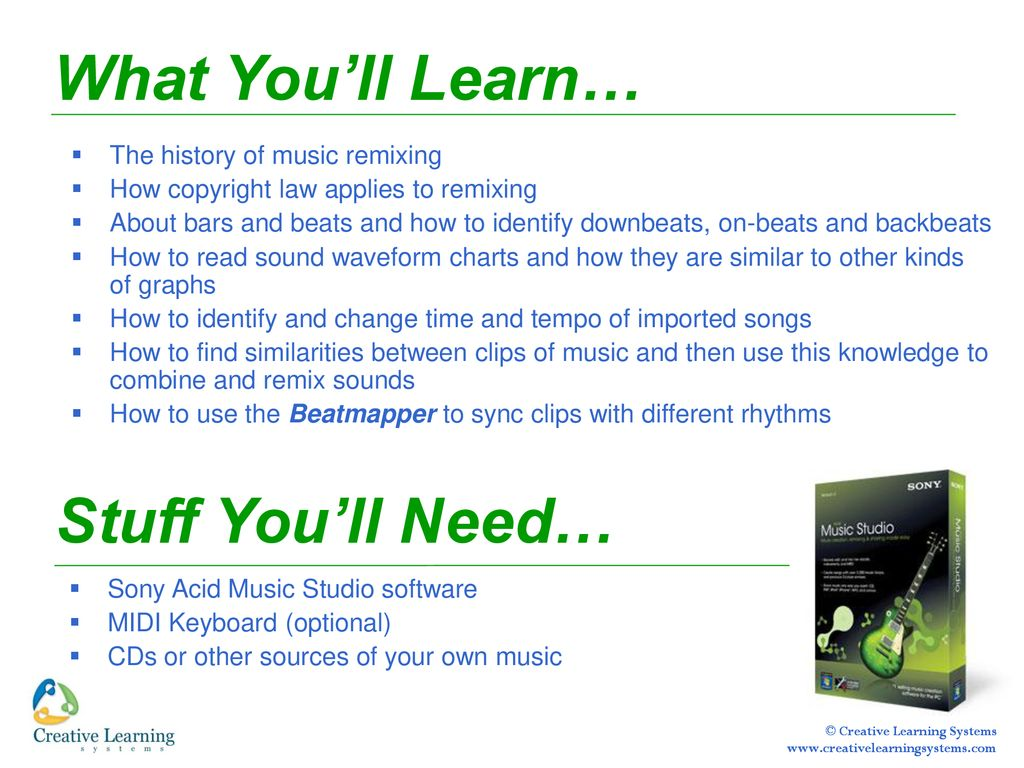 Sound Engineering with Acid Music Studio - ppt download