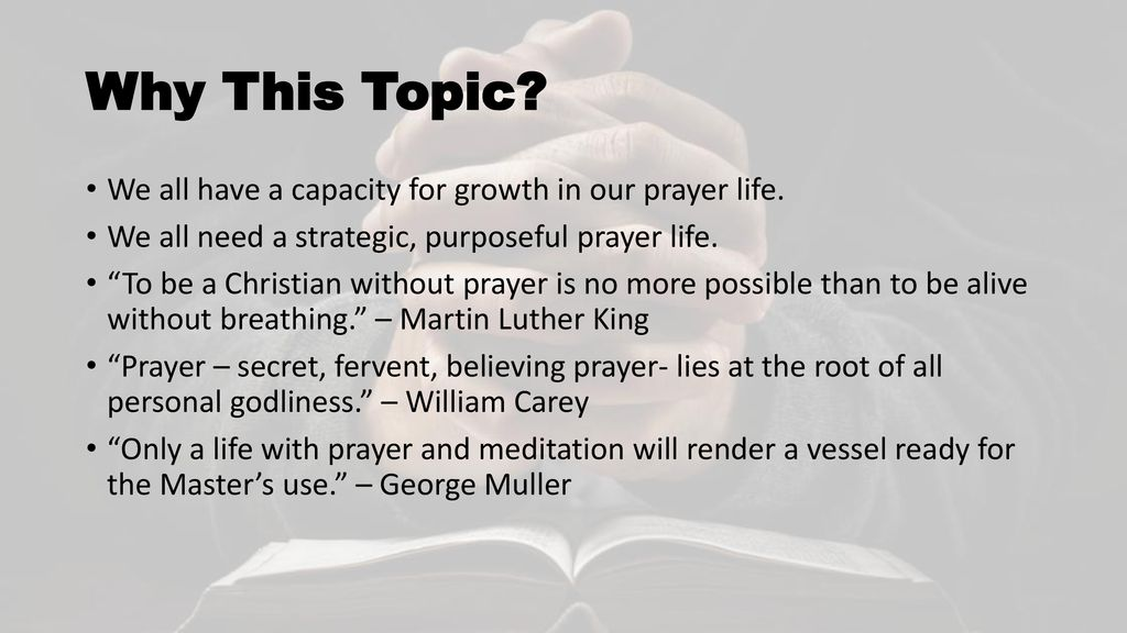 BECOMING A MAN OF PRAYER - ppt download