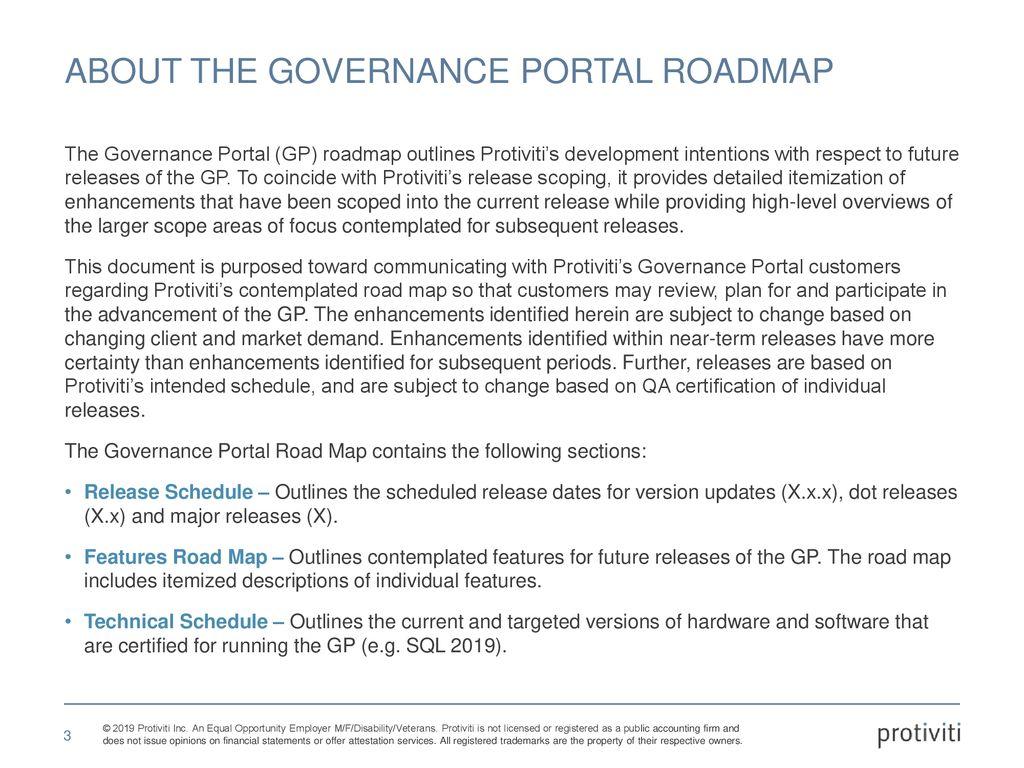 Governance portal roadmap - ppt download