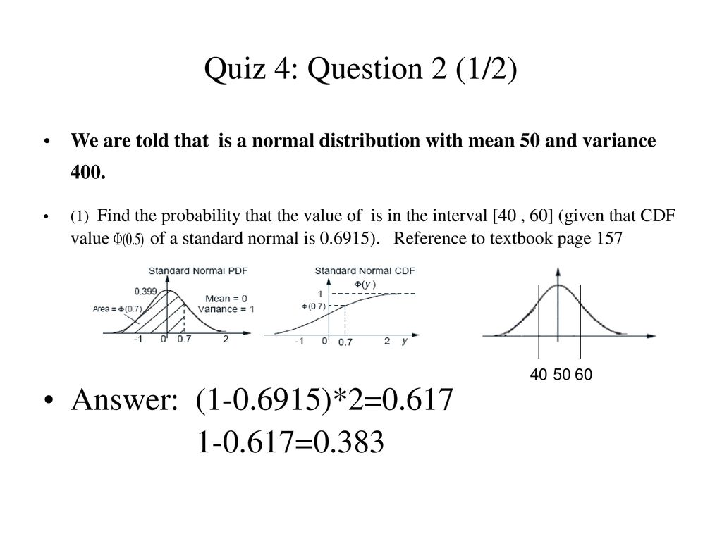 Introduction to Probability: Solutions for Quizzes 4 and 5 - ppt