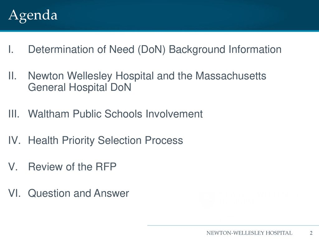 Bidder's Conference: MGH/NWH Determination of Need May 29, ppt download