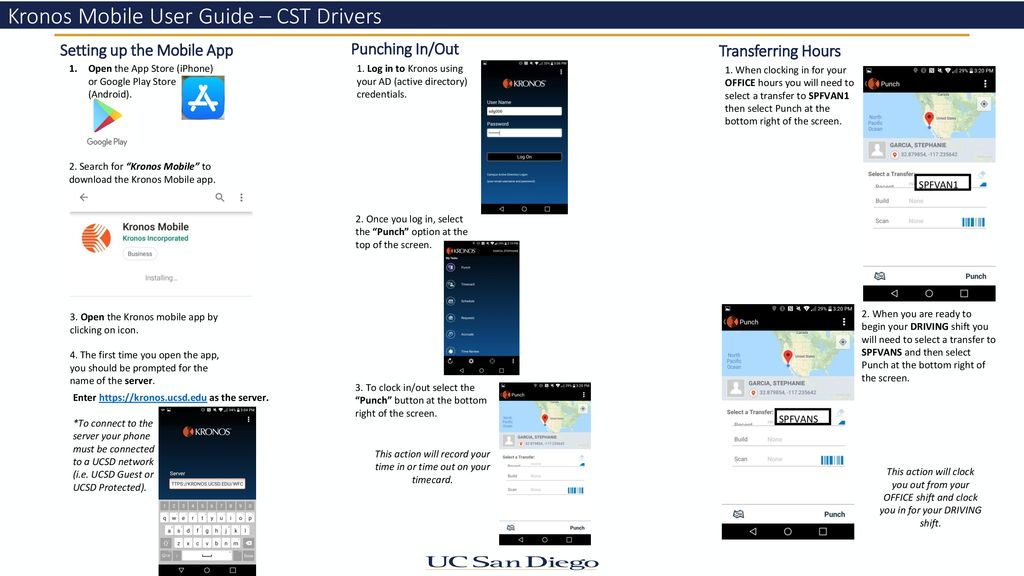 Kronos Mobile User Guide – CST Drivers - ppt download