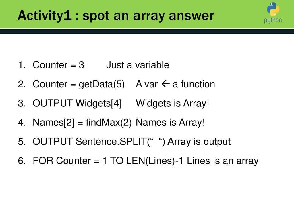 Arrays & Loops  - ppt download