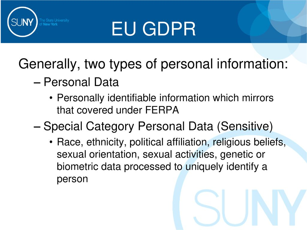 The European Union's General Data Protection Regulation