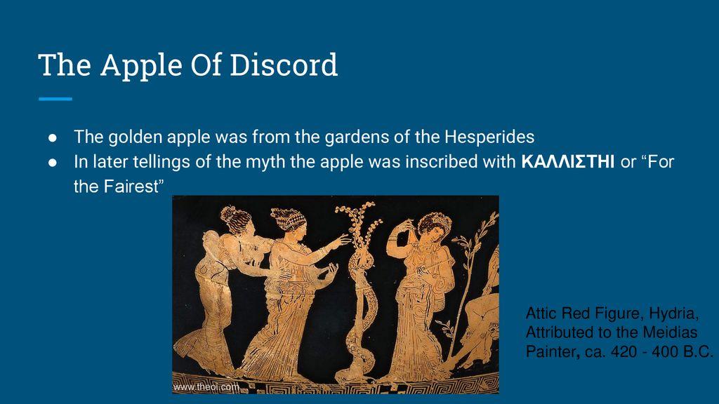 Apple of Discord ΜΗΛΟ ΤΗΣ ΕΡΙΔΟΣ/μήλο της έριδος - ppt download