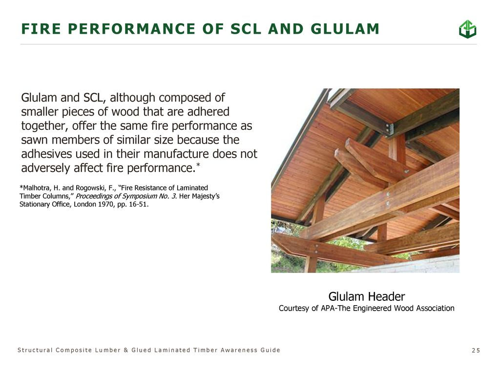 Structural Composite Lumber & Glued Laminated Timber - ppt