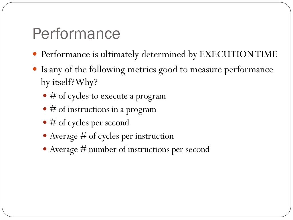 Performance  - ppt download
