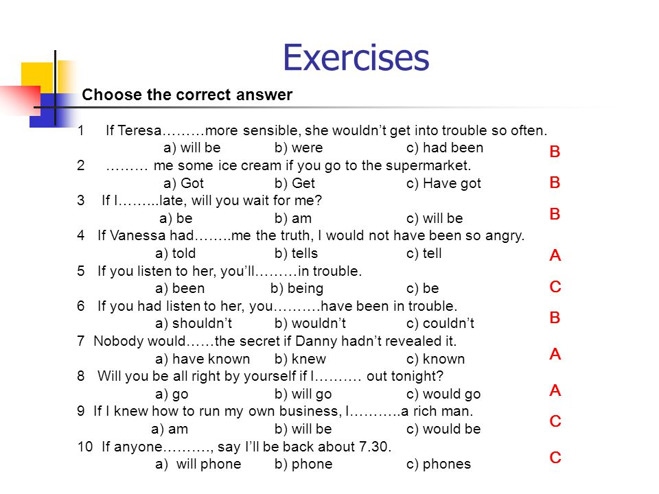 Will and would exercises