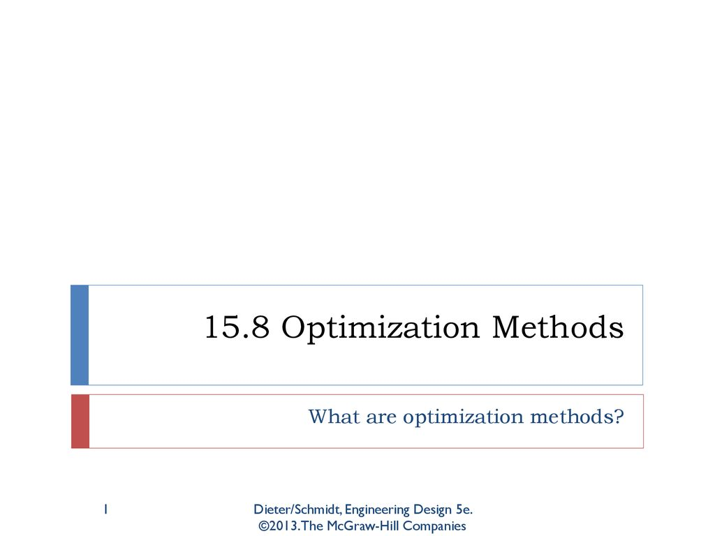 What Are Optimization Methods Ppt Download