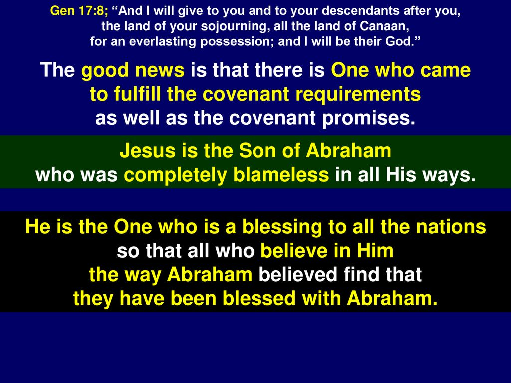 Patriarchal Age - After the flood  Circumcision Covenant  - ppt download