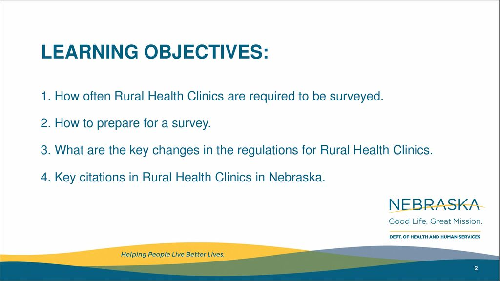 Rural Health Clinic Surveys– What's New? - ppt download