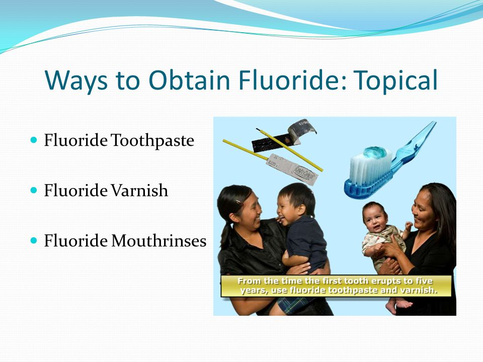 Ways to Obtain Fluoride: Topical