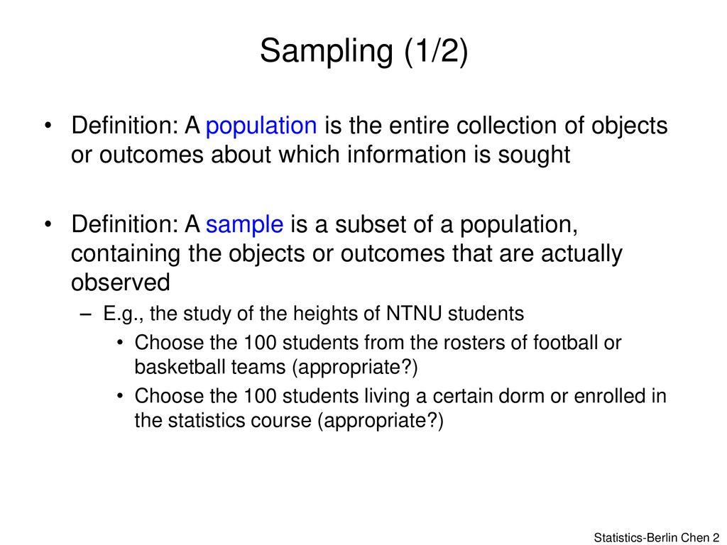 Sampling and Descriptive Statistics - ppt download