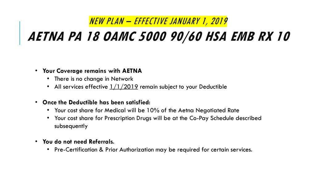 Aetna Prior Authorization List 2019