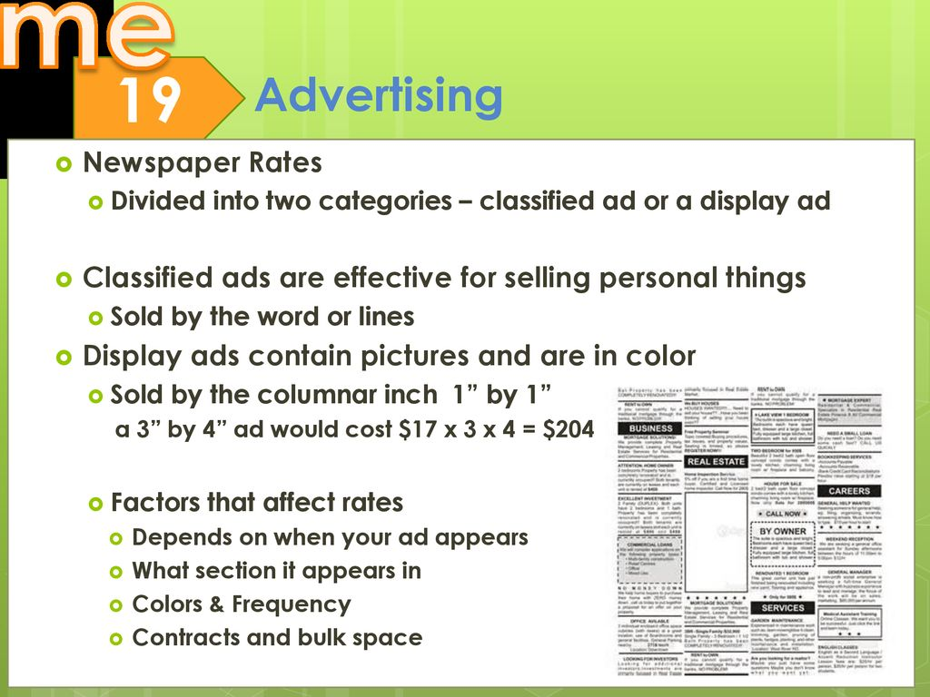 Objectives Explain the concept and purpose of advertising in the