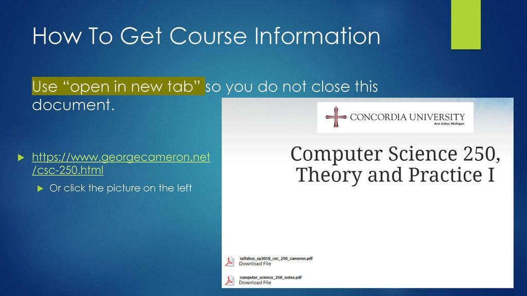 Computer Science 250 Theory and Practice I  - ppt download