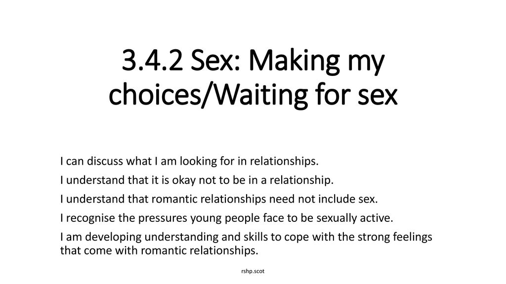 Waiting for sex in a relationship