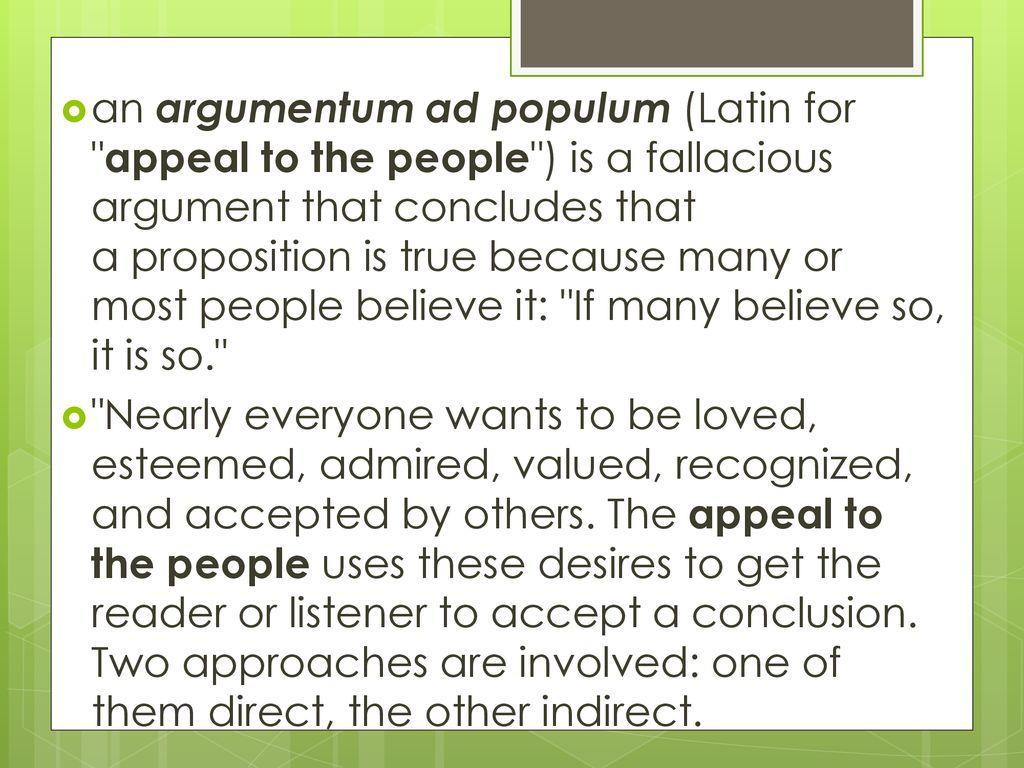 Tagalog argumentum ad populum 10 Common