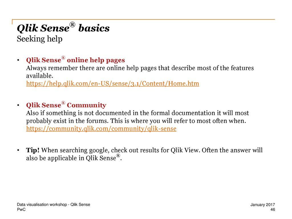 Data Visualisation Qlik Sense®  - ppt download