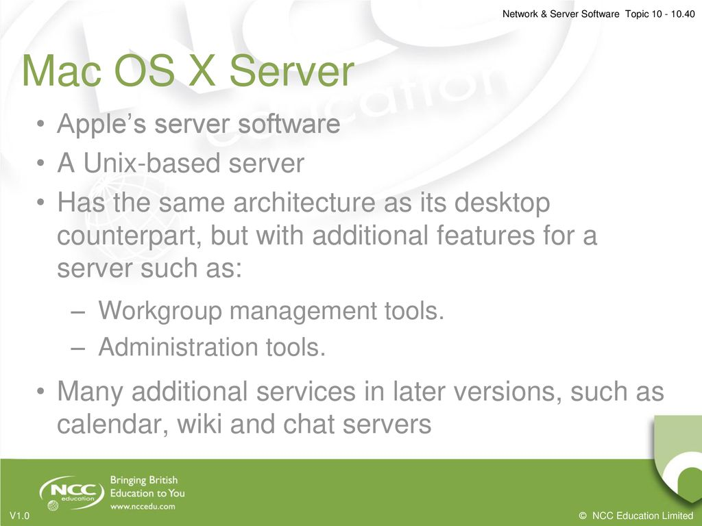 Topic 10: Network & Server Software - ppt download