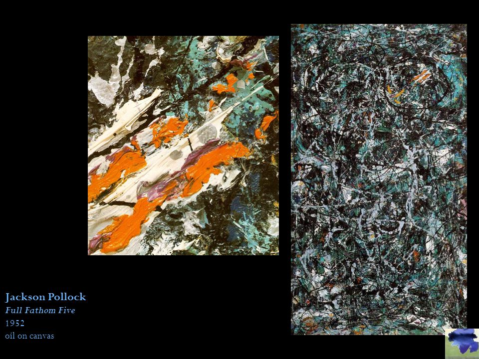 Jackson Pollock Full Fathom Five Details Modern Abstract Art ~ 5 Sizes To Choose