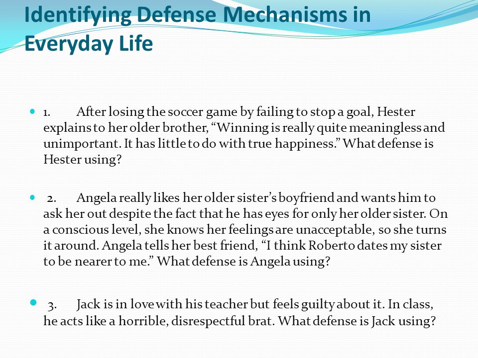 how to stop defense mechanisms