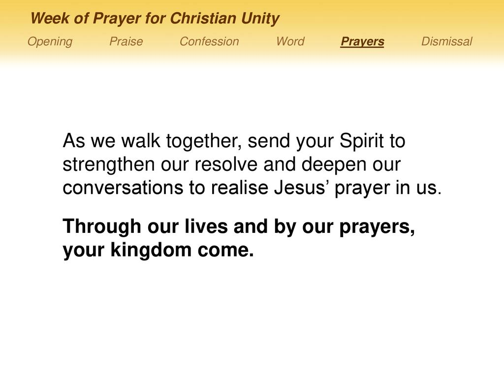 GOD What does require of us? Week of Prayer for Christian