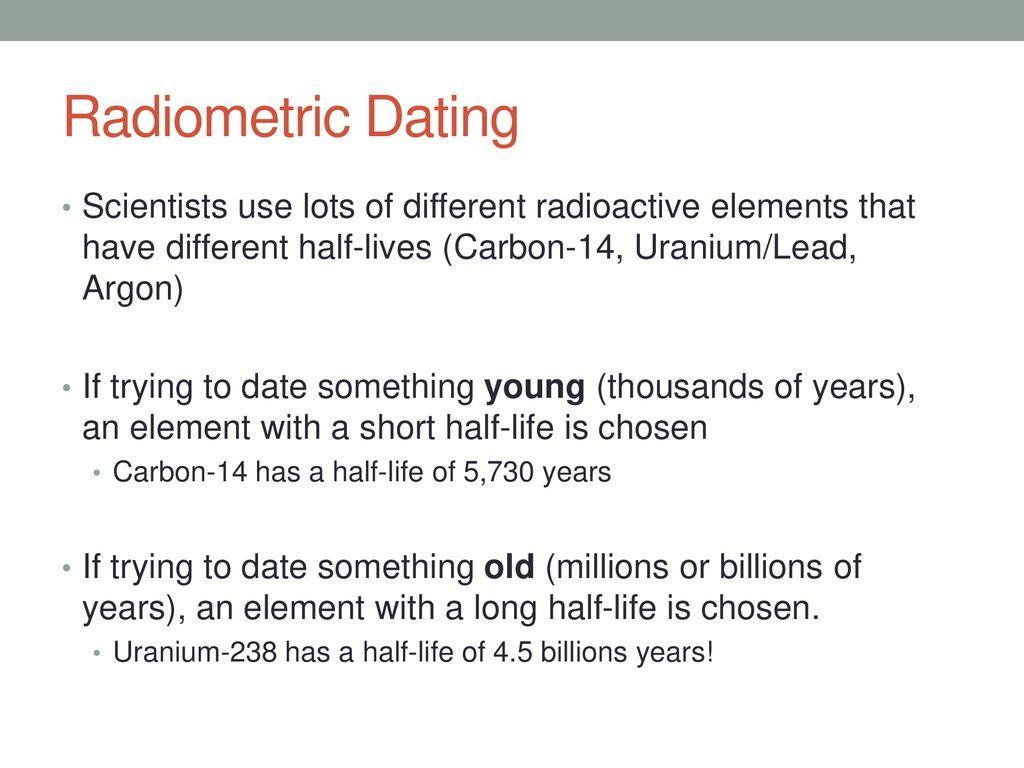 Half Lives radiometrische dating