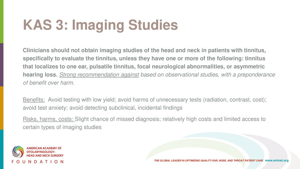 AAO-HNSF Clinical Practice Guideline: Tinnitus - ppt download