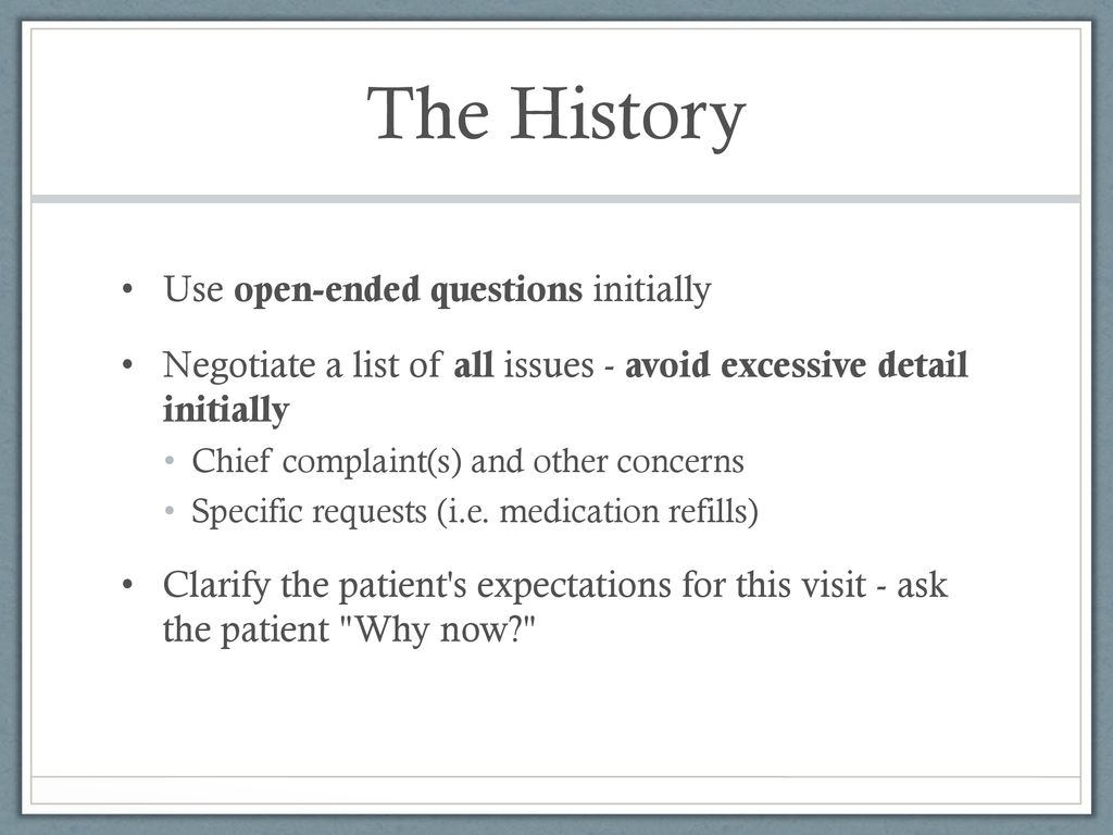 General aspects of history taking in surgical patients - ppt download